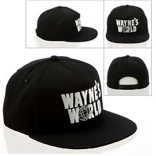WAYNE'S WORLD Movie Ball Cap Costume BLACK Baseball Embroidered Hat High Quality