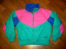 Vtg 80s 90s FIRST TRACKS Mens SMALL Neon Puffy COLOR BLOCK Ski gaper Coat Jacket