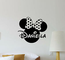 Personalized Minnie Mouse Wall Decal Disney Girl Name Vinyl Sticker Decor 447