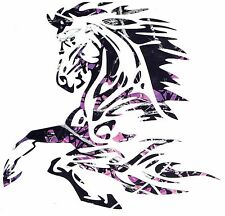 "Muddy Girl Camo Tribal Horse Vinyl 5"" Decal Truck/Car"