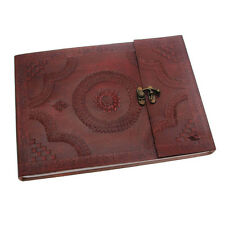 INDRA Fair Trade handmade Medium in pelle in rilievo Photo Album Scrapbook