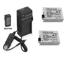 TWO 2X LP-E8 Batteries + Charger for Canon EOS Rebel T2i T3i T4i T5i Digital