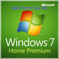 Scarto PC Windows 7 autentico HOME PREMIUM 32 / 64bit VERSIONE COMPLETA codice di licenza