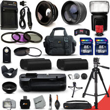 Xtech Kit for Nikon D7000 PRO 34 Piece  w/ BT Grip + 32GB Memory + Flash +MORE!