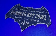 CUSTOM 2016 ARMORED BAT COWL DISPLAY PLACARD BATMAN DAWN OF JUSTICE SUPERMAN