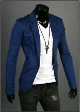 New Stylish Men's Casual Slim Fit One Button Suit Blazer Coat Jacket Tops L