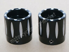 Pack of 2 Contrast Cut Front Axle Nut Cover for Harley Touring Street Glide