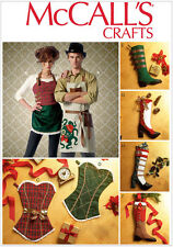 McCall's 7062 Sewing Pattern to MAKE Unusual Christmas Stockings Sacks & Aprons