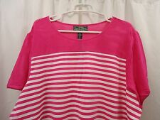 Women's Lauren Ralph Lauren Striped Shirt Shirt 3X