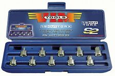 Vim Tools HCT1050 10 PC 1/2 Cut Torx Bit Socket Set - T10 thru T50