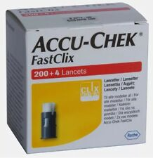 Accu Chek Fastclix Lancets Box of 200 + 4 Accu Check **BRAND NEW & SEALED**