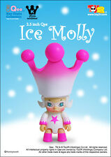 "Toy2R 2.5"" Qee Molly Ice Special Pink Skating Outfit by Kenny Wong MIB"