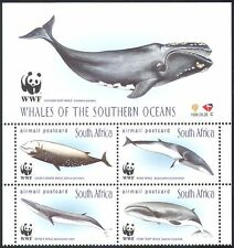 RSA/South Africa 1998 WWF Whales/Marine/Conservation/Environment 4v blk s2543