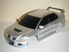 Xmods Replica 1:28 RC Car Body Silver MITSUBISHI LANCER