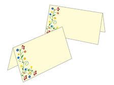 10 Tischkarten Namenskarte Platzkarte Geschenkanhänger Blüten Vintage Blumen