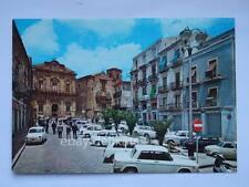 PIAZZA ARMERINA Enna Piazza Garibaldi lambretta Fiat 500 vecchia cartolina