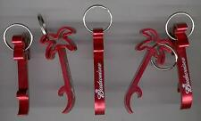 BUDWEISER BUD 5 PALM SHAPED METAL BOTTLE OPENERS NEW