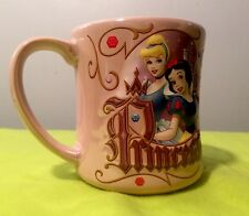 Beautiful Pink Embossed 3D PRINCESS DISNEY Ceramic Mug Cup JERRY LEIGH NEW BELLE