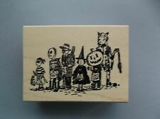 100 PROOF PRESS RUBBER STAMPS HALLOWEEN PARADE NEW STAMP