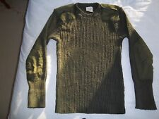 British Army Wool Sweater (Jersey, Man's Heavy Olive Round Neck), Size- 112cm