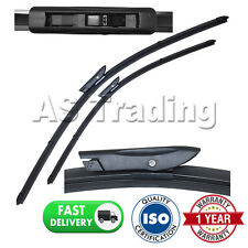 "FOR RENAULT MEGANE MK2 2006-09 DIRECT FIT FRONT AERO WIPER BLADES PAIR 24"" + 18"""