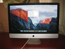 "Apple 27"" iMac A1312  MB952LL 2009 Intel Core 2 Duo 3.06 4gb 500gb El Capitan"