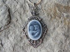MOTHER AND CHILD CAMEO NECKLACE -L3, MOTHER'S DAY GIFT - MOTHER GIFT, QUALITY!!!