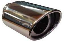 Saab 42499 115X190MM OVAL EXHAUST TIP TAIL PIPE PIECE CHROME SCREW CLIP ON