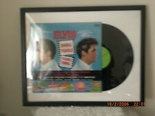 "ELVIS PRESLEY VINYL ""DOUBLE TROUBLE"" ALBUM FRAMED ART WORK RCA SF7892"