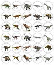 30x Dinosaurs Cupcake Toppers Edible Wafer Paper Fairy Cake Toppers