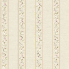 Coordinating Floral Bouquet Stripe Wallpaper      FREE SHIPPING      FD8462