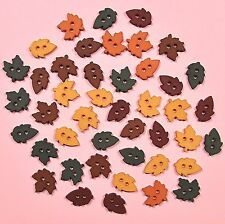 DRESS IT UP Buttons Tiny Raking Leaves 4874 - Autumn Embellishments