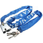 Blue Heavy Duty Secuirty Motorcycle Bicycle Bike Scooter Chain PadLock 3 keys