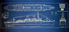 Vintage Hawaiian Passenger Ship SS Independence 1950 Blueprint Plan 12x30  (160)