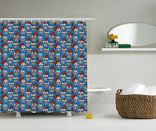 Skulls Roses in Floral Mexican Style Polyester Fabric Shower Curtain