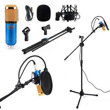 Boom Stand Tripod +Condenser Microphone +Pop Filter Shock Mount Vocal Record Kit