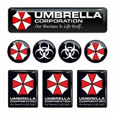 Umbrella Corporation Resident Evil 3d domed emblem decal stickers