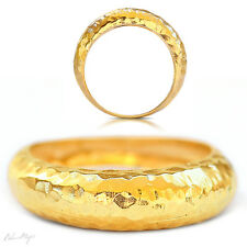 Yellow Gold Filled 14k Ring Warranty Sizeable Tapping Round Artisan Handmade New