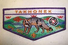 OA TAKHONEK LODGE 617 SCOUT PATCH GREY FOX PURPLE 100TH ANN CENTENNIAL FLAP