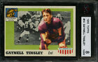 1955 TOPPS #14 GAYNELL TINSLEY WHIZZER WHITE BIOGRAPHY BIO ERROR LSU KSA 8 NM-MT