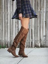 Free People Grandeur Tan Suede Over The Knee Womens Boots 39/9M MSRP $328