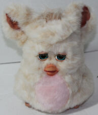 2005 Hasbro TIGER ELECTRONICS FURBY EMOTO-TRONIC FRIEND Tan and Pink TUMMY