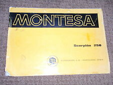 MONTESA SCORPION  250 OWNERS / PARTS MANUAL AHRMA VINTAGE