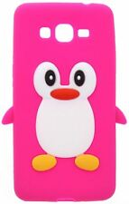 Hot Pink Novelty Penguin Silicone Cover/Case fo Samsung Galaxy Grand Prime