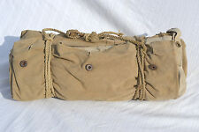 U.S. ARMY WWII or WWI FIELD TENT SHELTER HALF WITH POLES PEGS ROPE US WW1 WW2 ?