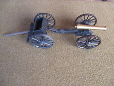 Vintage Toy Brass and Cast Iron Cannon, Ammo Wagon M-F Co.