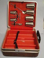 Vintage Platt Travel Portable Drinking Case Compact Bar Barware Set-MidCentury