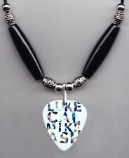 5 Seconds of Summer Names Guitar Pick Necklace - 5SOS Luke Cal Mike Ash
