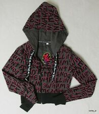 NWT M Avril Lavigne ABBEY DAWN *Original* Gray Cropped Motorcycle Hoodie Jacket