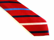 Nautica Tie, 100% Silk Rotating Ribbed Stripe In Red Multi